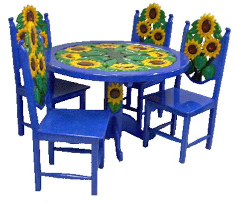 colorful kitchen tables girasol dining table we do any carving you can describe 2352