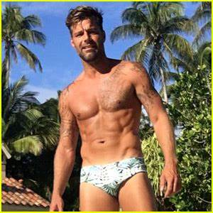 Ricky Martin Poses in a Speedo, Bares Ripped Shirtless ...