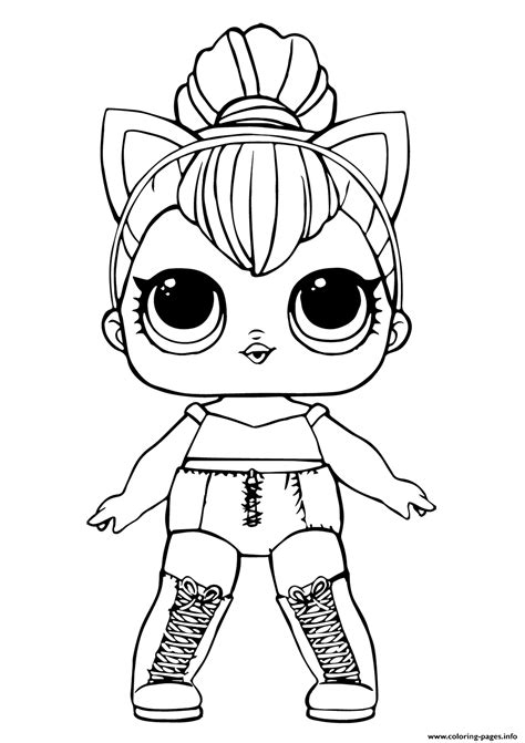 lol doll kitty queen coloring pages printable