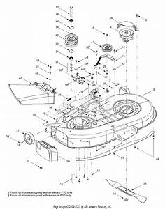 Mtd 13cx614g401  2004  Parts Diagram For Deck Assembly