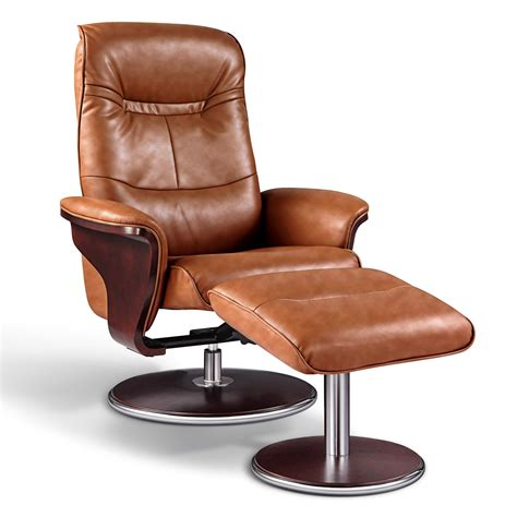 brown leather chair with ottoman artiva usa milano leather swivel recliner and ottoman