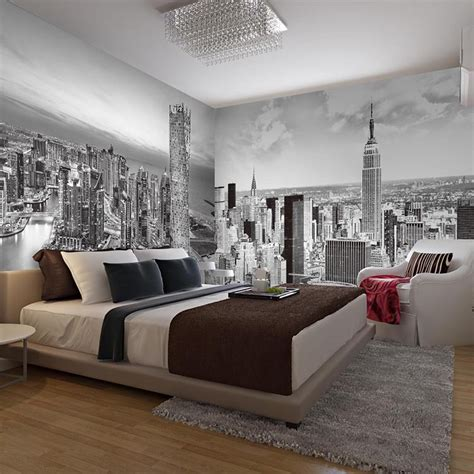 Wohnzimmer Neu Tapezieren by Large Black And White Mural New York City Building 5d Wall