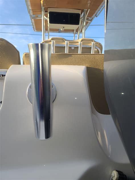 transom access rod holder rack instal page  key west boats forum