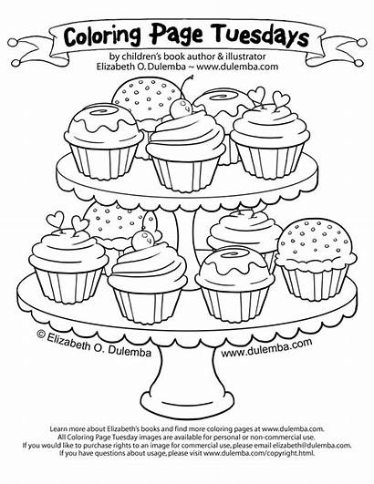 Coloring Pages Cupcakes Adults Cupcake Cup Cakes