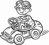Coloring Toy Pages Driving Boy Freddy Garfield Glassess Getdrawings Printable Getcolorings sketch template