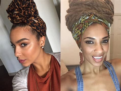 hair style with scarf black hairstyles with wraps to show