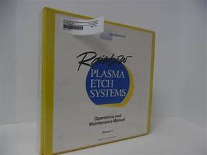 Lam Research Rainbow Plasma Etch Systems Operation Manual