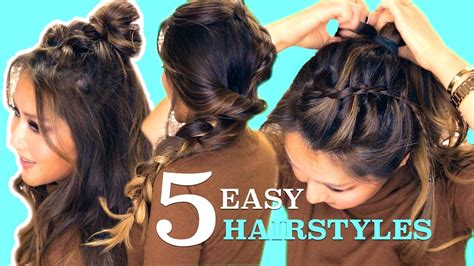 lazy easy hairstyles cute summer braids youtube