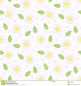 Simple Floral Pattern Background