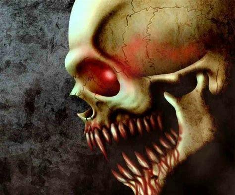 sharp teeth skull skeletons  skulls pinterest