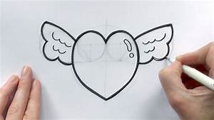 Love Pics Drawing Easy How To Draw A Cartoon Love Heart ...