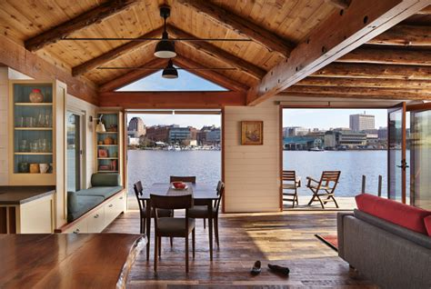 houseboat is reborn as an cabin at the end of the dock the seattle times