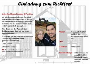 Schenkt Man Etwas Zum Richtfest : unser richtfest unser passivhaus in burgdorf hannover ~ Lizthompson.info Haus und Dekorationen