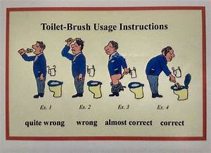 Toilet Brush Usage Instructions