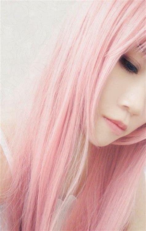 Japanese Girl Pastel Pink Hair Luv Me Some Pink