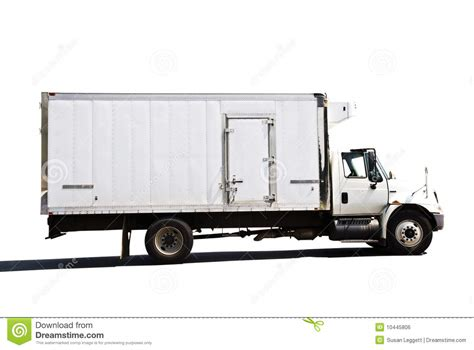 refrigerated delivery truck royalty  stock image