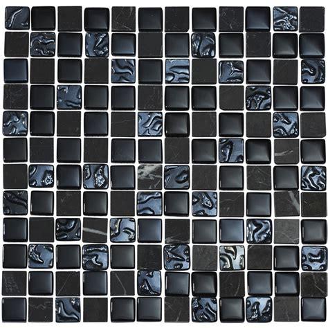 black mosaic tile quartz 1 black glass stone mix mosaic tile sheet available online
