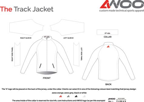 Sports Jacket Template by The Track Jacket 187 Awoo Custom Made Sports Apparel