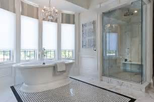 Chandelier Over Bathtub Soaking Tub by Jill Greaves Design Master Ensuite Freestanding Bath And