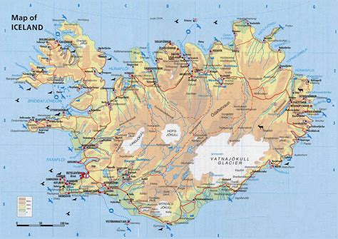 physical map  iceland iceand physical map vidianicom