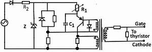 thyristor gate firing networks With scr circuits