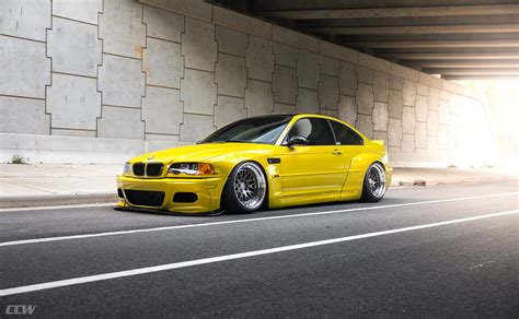 Phoenix Yellow Bmw E46 M3 Widebody Shines On Ccw Classics