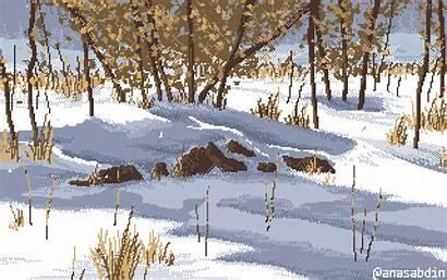 Pixel Animation Landscape Cool Scenery Garden