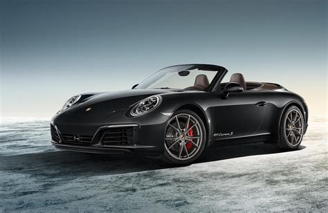 porsche 911 convertible black 2016 porsche 911 carrera cabriolet black edition car