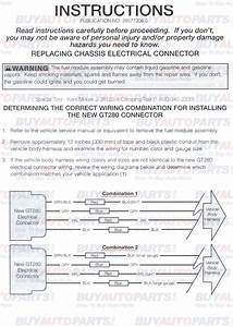 Fuel Pump Install Wiring Instructions