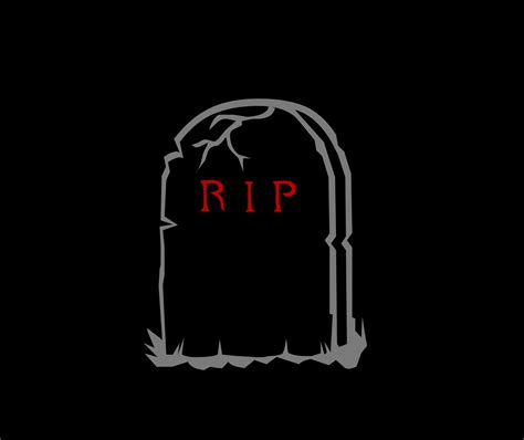 Rip Background Image Of Clipart Headstone Creepyhalloweenimages