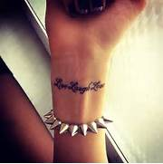 Tattoo Ideas For Girls...Quote Tattoos For Girls On Wrist