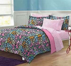 My, Room, Neon, Leopard, Ultra, Soft, Microfiber, Girls, Comforter
