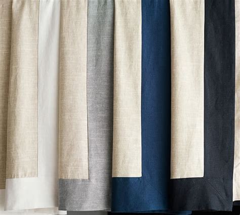 emery frame border linencotton curtain oatmealivory