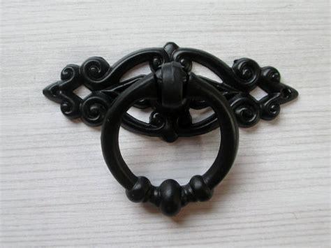 black ring pull cabinet handles black shabby chic dresser drawer pulls knobs handles drop