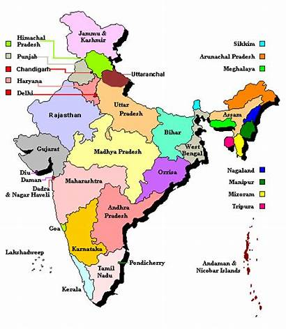 India Map Regions Cities
