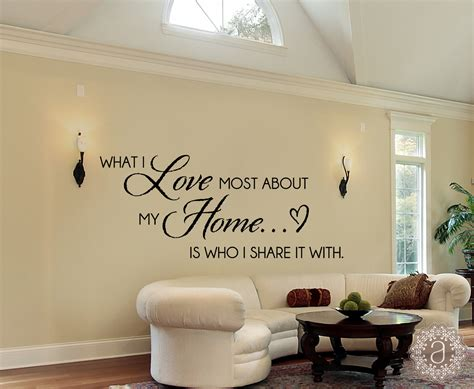 Home Decor Decals by What I Most About My Home Removable Wall Stencils