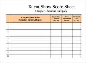 Excel Study Template Sle Talent Sheet 9 Documents In Pdf