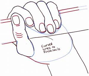 How to Draw a Hand Gripping Something with Easy to Follow ...