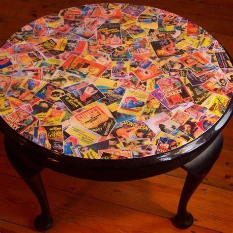 film noir decoupage table for the home pinterest