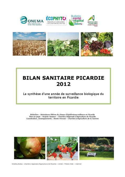 chambre agriculture picardie bilan sanitaire picardie 2012 by corinne lescaudron issuu
