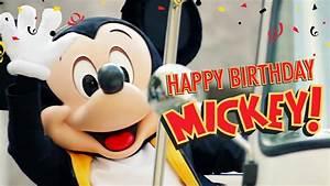 Happy Birthday Mickey Mouse : mickey s birthday trip around the world 2016 happy birthday mickey youtube ~ Buech-reservation.com Haus und Dekorationen