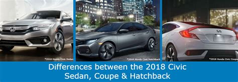 Differences Between The 2018 Honda Civic Sedan, Coupe