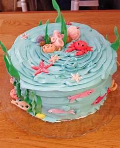 Rezepte Für Geburtstagsfeier : unter dem meer torte f r einen arielle geburtstag geburtstagstorten f r kinder pinterest ~ Frokenaadalensverden.com Haus und Dekorationen