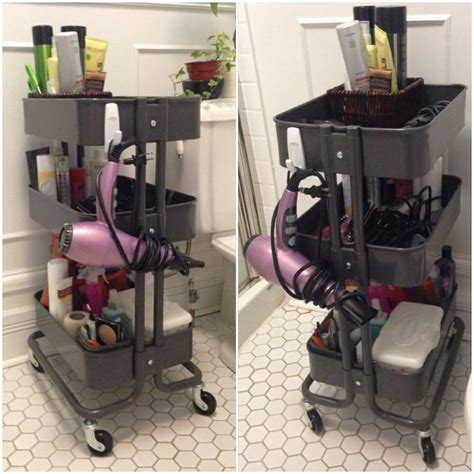 ikea hanging kitchen storage use ikea raskog kitchen cart as bathroom storage stick on 4444
