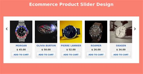 carousel product slider  usign htmlcss html css