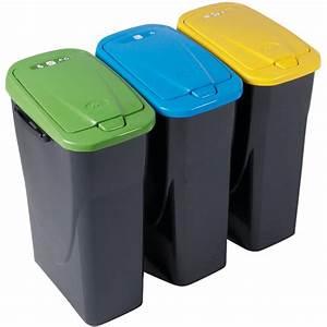Poubelle De Tri Selectif : poubelle tri s lectif jaune 25 l poubelle rangement ~ Farleysfitness.com Idées de Décoration
