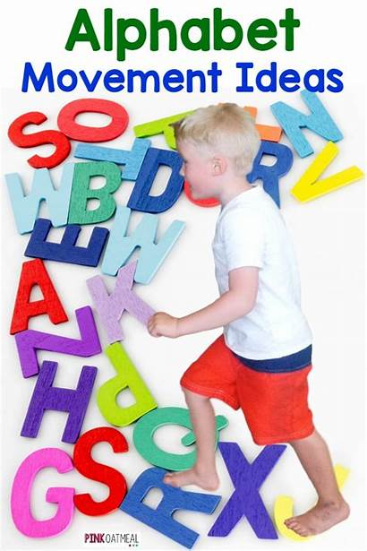 Movement Alphabet Preschool Activities Cards Learning Moving
