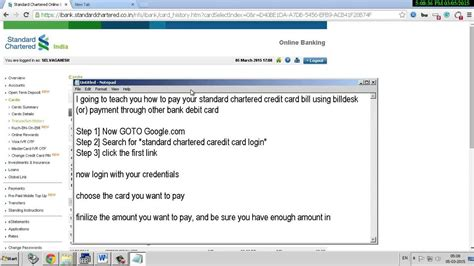 How can credit card bill payment be made through mobile? How to pay standard chartered credit card by neft MISHKANET.COM