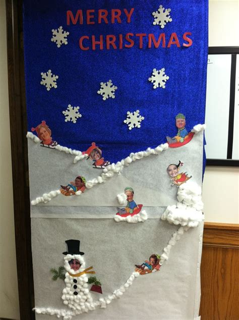 sledding elves door decorating contestatkim kiger door
