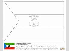 Flag of Equatorial Guinea coloring page Free Printable